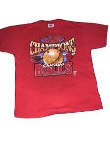 Logo Athletic CHICAGO BULLS RARE 1998 JORDAN ERA NBA CHAMPIONSHIP T-SHIRT XLarge
