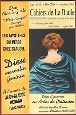 Cahiers de La Baule, n°81, Mystères du verbe chez Claudel, Dieu masculin féminin