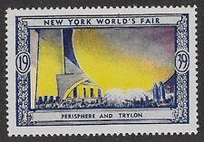 Usa Poster stamp:1939 New York World's Fair: Perishere and Trylon - dw433/33