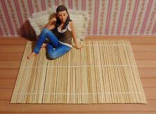 T31 - Miniatur-Teppich aus Holz für´s Puppenhaus 18 x 12,5 cm, 1:12