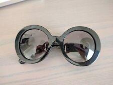 Prada Black Round Baroque 55mm Sunglasses