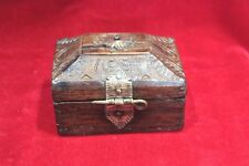 Wooden Box Old Vintage carved Decoration Jewellery Malabar box Antique Bb-37