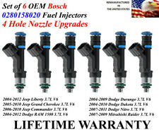 6 Genuine 4 Hole Fuel Injectors Bosch For 2005-2010 Jeep Grand Cherokee 3.7L V6