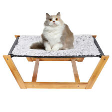 Elevated Cat Dog Comfy Hammock Luxury Lounger Bamboo Bed Blanket Play & Sleeping