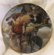 "Bradford Exchange Classic Fairy Tails Mini Plate ""Jack & the Beanstalk"""