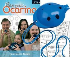 OCARINA Blue 6-hole + COMPLETE Play Your Ocarina Books 1-4, FREE DELIVERY