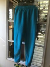 Obermeyer Aspen, Co Girls Large Fuzzy Fleece Base Layer Leggings Turquoise Blue