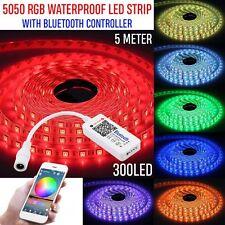 RGB LED Strip Lights Ip65 Waterproof 5050 5m 300 LEDs 12v Remoter Controller