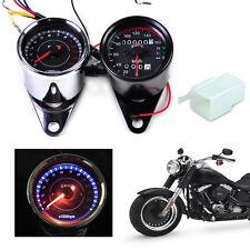 Motorrad LED Tachometer Speedometer Drehzahlmesser für Harley Honda Suzuki km/h