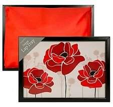 2pcs Red rose Home Wooden Bean Bag Lap Tray Perfect for Dinner / laptop