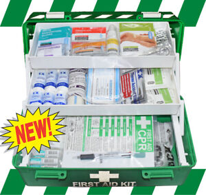 FIRST AID KIT - NATIONAL SAFE WORK AUSTRALIA ESSENTIAL WORKPLACE KIT + GIFTS