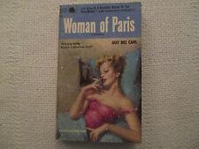 1955 Woman Of Paris Guy Des Cars Popular Library 711 paperback GD/VG