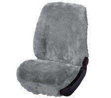 Universal Autositzfell silber, Lammfell Sitzbezug mit Webpelz, auch für Airbags
