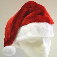 Santa Hat - Standard Santa's Christmas Plush Red Holiday Adult Cap - US Seller!