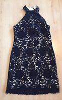 Pied A Terre Ladies Dress 12 Black Lace Party Evening Cocktail EUC