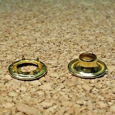 Brass Grommets w/ Rolled Rim Spur Washers #0 Military Spec Top Quality 144 sets