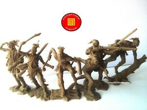 NEW! PUBLIUS - American Indian - Mohicans,Iroquois, 6 rubber soldiers 1:32