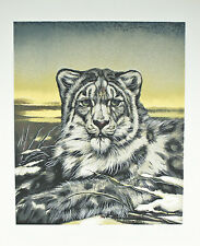 """""""Chinese Snow Leopard"""" by Martin G. Katon Signed Trial Proof TP Lithograph 29x24"""
