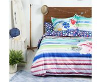 Desigual Blue Summer Reversible Quilt  Cover Set Blue Summer