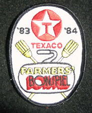 "TEXACO FARMERS BONSPIEL~ CURLING EMBROIDERED SEW ON PATCH 2 7/8"" x 3 7/8"""