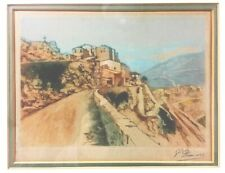 Antique Orig Etching Phillippe Demars Early 20th Century Print Menton France Art