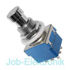 Fußschalter Foot - Switch Einbau Schalter 3PDT 3xUM 3 Wechsler Stomp * NEU *