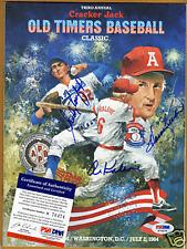 1984 Cracker Jack Program Autograph psa/dna Al Kaline Sandy Koufax  Killebrew