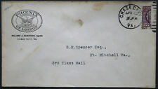 Cover - True 3 Cent Bisect to 1 1/2 Ct 3rd Class Mail rate - Chase Va S26