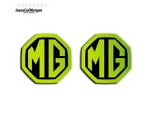 MG ZR ZS MGF LE500 Badge Front Grill Rear Boot Insert Badges 59mm Glow Green