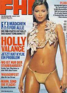 FHM 8/2002 Eva Habermann Johnny Cash Willem Dafor Holly Valance Shi Xing-Tao