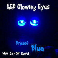 """LED GLOWING EYES -  HALLOWEEN WIDE BLUE 5MM 9V ON/OFF SWITCH  6"""""""