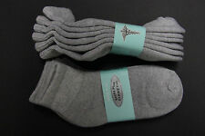 6PAIR Diabetic Men/WOMEN ANKLE Socks 9-11 GRAY Cotton(FOR DIABETICS CIRCULATION