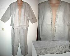 ~NWT~COLD WATER CREEK $79 BEIGE JACKET CAPRI SET PE-SM