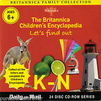 BRITANNICA FAMILY COLLECTION: LET'S FIND OUT K-N (Daily Mail PC CD-ROM)
