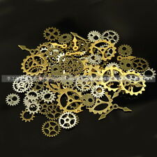 20 GRAMS Mixed Steampunk GEARS Watch Parts Altered Art Gold Plated Gears