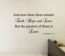 And Now these 3 Remain LOVE Wall Sticker Decal Stickers Bible Wall Lettering