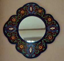 Handmade Wooden Frame Round Decorative Mirrors