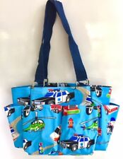 Tote Caddy Organizer Moroccan Print Zips Pockets Moms Daycare Teachers Nurses