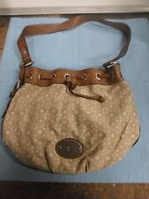 Fossil Maddox Drawstring Tan Handbag/Purse