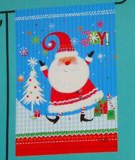 "Whimsical Santa Joy small decorative art garden flag New! Christmas 12.5"" x 18"""