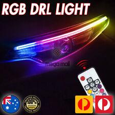 RGB Slim Sequential LED DRL Turn Signal Strip for Car Headlight w/Remote Control