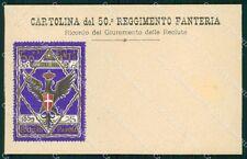 Militari Reggimentali 50º Reggimento Fanteria Brigata Parma cartolina XF5013