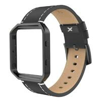 For Fitbit Blaze Band w/Frame,Genuine Leather Replacement Wristband for Fit bit