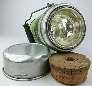 Vintage Thermos Flask Original Cork Stopper Wide Mouth Food Cylinder Prop