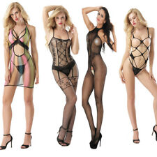 Sexy Lingerie Hollow Open Out Crotch Tight Fishnet Bodystocking Nightwear Lot