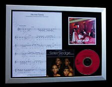 SISTER SLEDGE We Are Family TOP QUALITY MUSIC CD FRAMED DISPLAY+FAST GLOBAL SHIP