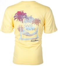 Tommy Bahama Mens S/S Yellow T-Shirt TAKE IT ONE SWAY AT A TIME Relax XL-3XL $45