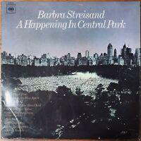 BARBRA STREISAND  A HAPPENING IN CENTRAL PARK VINYL LP  CBS 63432  EXC COND