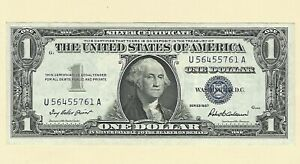 1957 Series $1 CU Silver Certificate One Dollar Paper Money Uncirculated