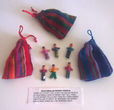 3 Pouches of 6 Fair Trade Guatamalan Worry Dolls.